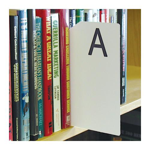 Brodart Sign Shop Alphabetical Shelf Marker Set