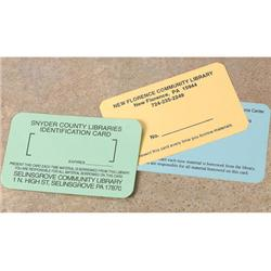 "Brodart 1 7/8""H Single-Sided ID Cards"