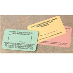 "Brodart 2 1/8""H Single-Sided ID Cards"