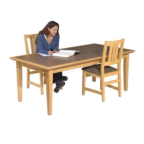 Brodart Cambridge Oak ADA Reading Tables