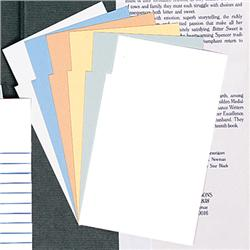 Brodart Blank Notched Book Cards
