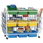 Image of Copernicus Leveled Reading Book Display Cart with Nine Tubs