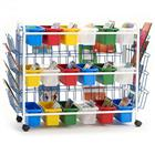 Image of Copernicus Leveled Reading Book Display Cart with 18 Small Tubs