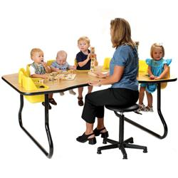 Junior Activity Table with Built-In Seats