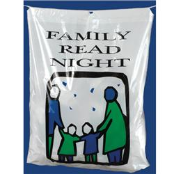 "Brodart ""Family Read Night"" Plastic Book Bag"
