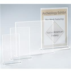 Acrylic Top-Opening Sign and Literature Holders