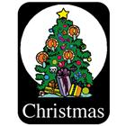Image of Brodart Christmas Classification Labels (500 w/Black BG)