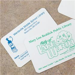 Brodart One-Sided Plastic ID Cards