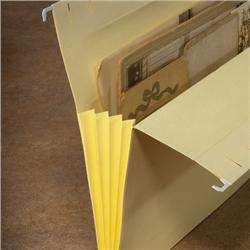 Letter-Size Drop-Front Expansion Hanging File Folders