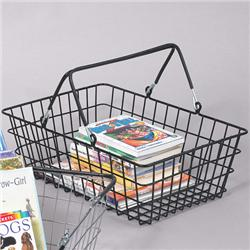 Black Wire Tote Basket