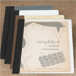 Brodart One-Piece Double-Stitched Clear Pamphlet Binders