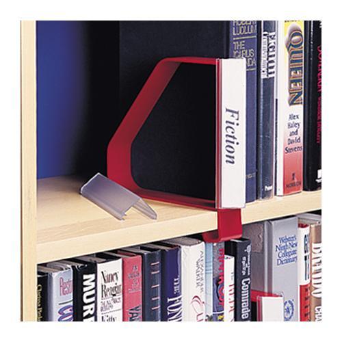 gressco angled label holder for clip on bookend. Black Bedroom Furniture Sets. Home Design Ideas