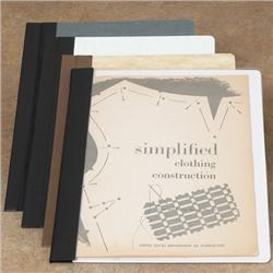Brodart Archival-Quality One-Piece Single-Stitched 60-Pt. Gray Board Pamphlet Binders