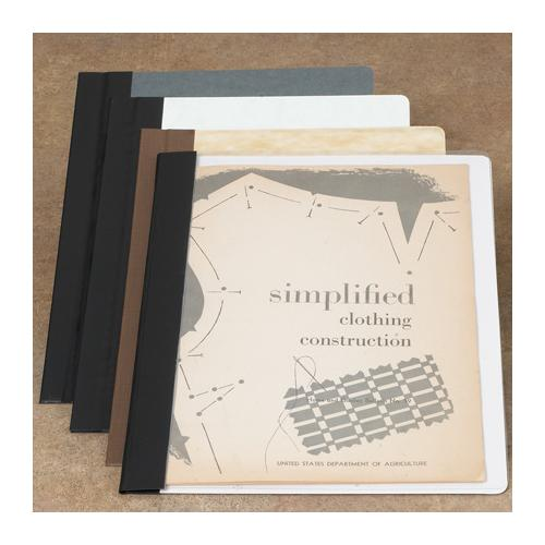 Brodart Archival-Quality One-Piece Double-Stitched 60-Pt. Gray Board Pamphlet Binders