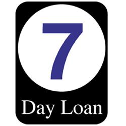 Brodart 7 Day Loan Classification Labels (500 w/Black BG)
