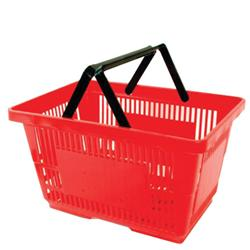 Standard Shopping Basket Set with Plastic Handles