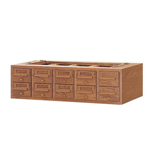 Brodart 10-Tray Unit for Card Catalog Sectional Cabinet