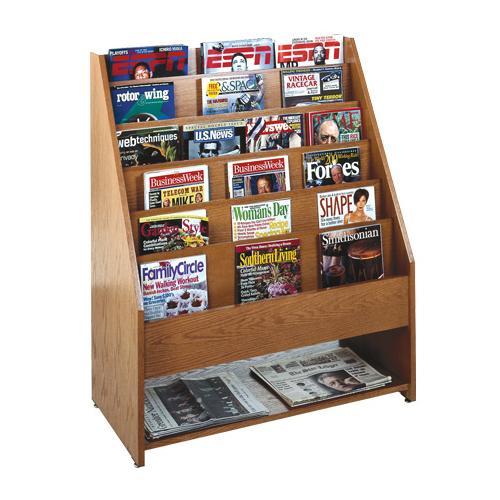 Brodart Full Panel Magazine Rack