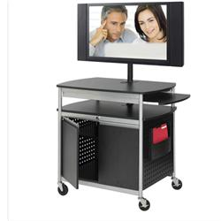 Safco Products Scoot™ Flat Panel Cart with Locking Cabinet