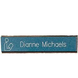 Brodart Sign Shop Rose Gold Nameplate Holders