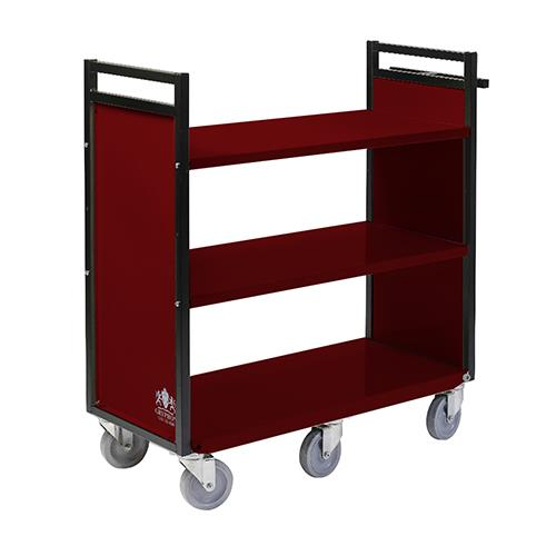"Gryphon 38""W Steel Book Truck with Three Flat Shelves"
