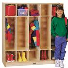Image of Jonti-Craft® Five-Section Coat Locker with Pegboard Back