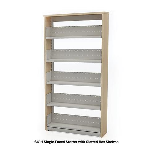 Horizon Double-Faced Steel Starter Shelving with Laminate End Panels and Slotted Box Shelves