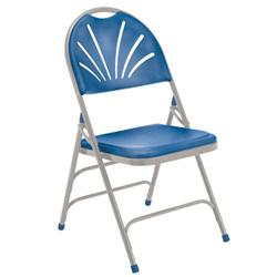 National Public Seating Fan-Back Polyfold Chairs (Set of 4)