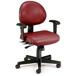 OFM Multi-Shift 24-Hour Vinyl Task Chair with Arms