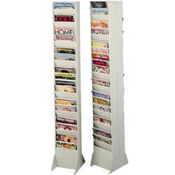 Sandusky Buddy Base and Top for 23-Pocket Magazine Displayer