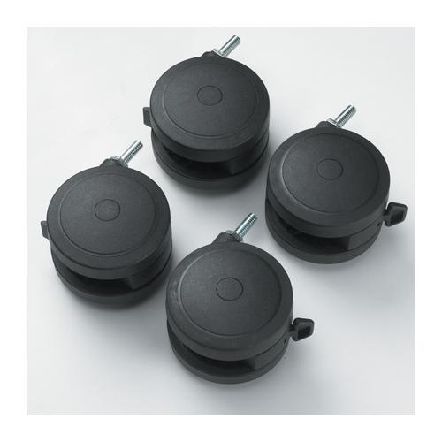 "Smith System 4"" Casters for Computer Desks and Workstations"