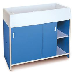 Whitney Brothers Infant Care Changing Cabinet Blue