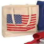 Image of Library Tote Bag with Flag Design