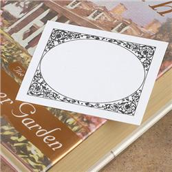 Brodart Adhesive Backed Bookplates with Floral Border