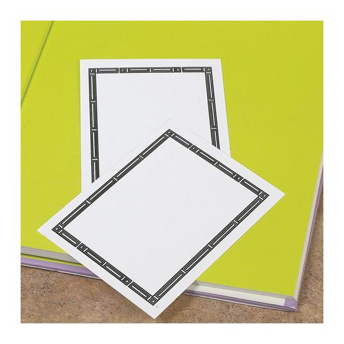 Brodart Adhesive Backed Bookplates with Bamboo Border