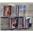 Image of Acrylic Slatwall Zigzag Shelf with Eight Media/CD Pockets