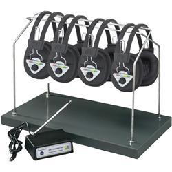 Hamilton/Buhl™ Multi-Channel Wireless System with Four Headsets and Rack