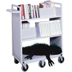 Sandusky Buddy Six-Wheel Utility Cart with Four Sloping Shelves