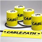 Image of Yellow Pro-Cable Path® Tape with Black Lettering