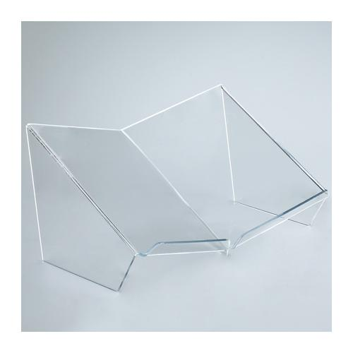 Deluxe Acrylic Open-Book Holder With Lip