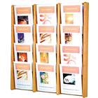 Image of Wooden Mallet 12-Pocket (3 Rows of 4) Wall-Mount Displayer