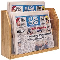 Wooden Mallet Countertop Newspaper Stand