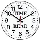 Image of Time To Read Wall Clock