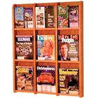 Image of Wooden Mallet 9-Magazine/18-Brochure Wall Mount Displayer