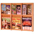 Image of Wooden Mallet 6-Magazine Wall Mount Displayer