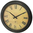 Image of Oversized Wall Clock with Distressed Case