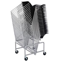 Sled Base Chair Stack Cart