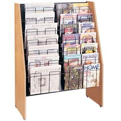 Brodart Classic Extra-Wide Seven-Tier Magazine/Newspaper Displayers