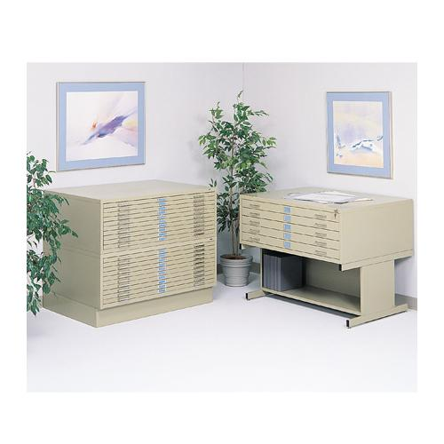 "Safco Products 53 1/2""W Large Five-Drawer Flat File"