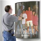 "Image of Convex Wall-Mount 41"" x 27"" Poster Frame"